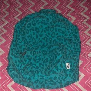 VS PINK Blue Cheetah Backpack 🎒